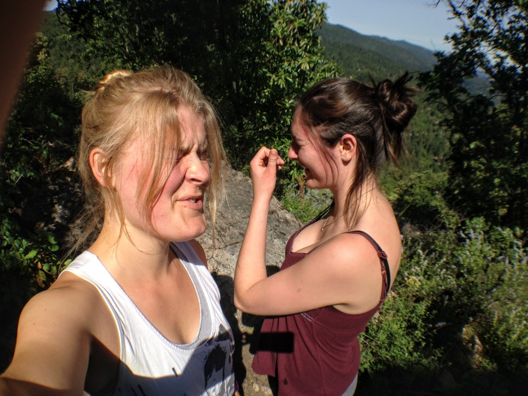 Maddy hiking