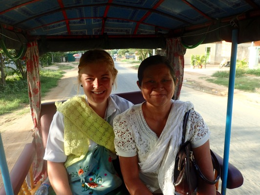 In the Tuk Tuk with Mai!